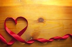 Forme rouge de coeur de bande Image libre de droits