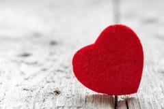 Forme rouge de coeur de laine Photo libre de droits