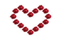 Forme rouge de coeur de roses photographie stock