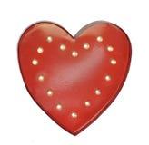 Forme rouge de coeur, symbole de l'amour Photos libres de droits