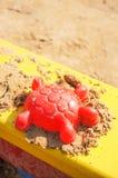 Forme rouge de sable Photographie stock libre de droits
