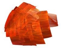 Forme rouge peinte de bande sur le blanc Images stock