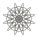 Forme simple de mandala de vecteur pour colorer, une page de coloration idéale pour des enfants et adultes illustration de vecteur