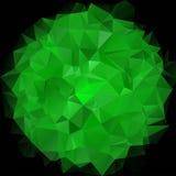 Forme sphérique géométrique des triangles sur le fond foncé illustration libre de droits