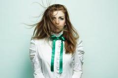 Forme um retrato da mulher bonita nova Fotografia de Stock Royalty Free