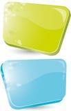 Forme verte et bleue Photos stock
