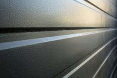 Formed Metal wall Perspective Royalty Free Stock Images