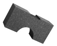 Formed Polystyrene part. Formed part of dark polystyrene in white back Royalty Free Stock Images