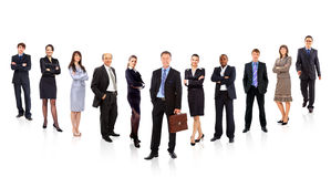 Formed of young businessmen Stock Photo