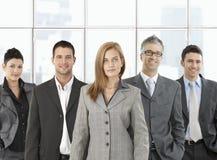 Formeel portret van gelukkig team royalty-vrije stock foto's