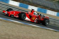 Formel 1 2005 Jahreszeit, Michael Schumacher Stockbild