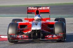 Formel 1 - Charles Pic Royaltyfri Bild
