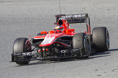 Formel 1 Marussia - Jules Bianchi Royaltyfri Fotografi