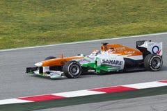 Formel 1-Teams prüfen Tage an Catalunya Kreisläuf Stockfotografie