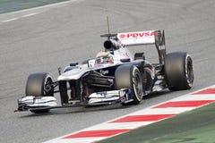 Formel 1 Williams FW35 - pastor Maldonado Fotografering för Bildbyråer