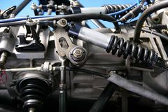 Formel 1automotor stockbilder