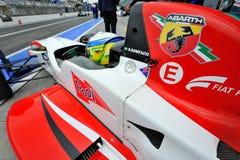 Formel Abarth i Monza racespår Fotografering för Bildbyråer