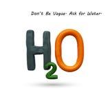 Formel av vatten H2O Arkivfoton