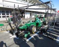 Formel 1-Caterham-Rennenmotor- Fotos F1 Lizenzfreie Stockfotos
