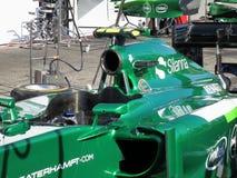 Formel 1-Caterham-Rennenmotor- Fotos F1 Lizenzfreie Stockfotografie