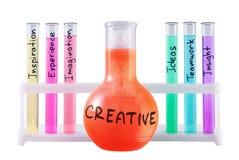 Formel der Kreativität. Stockfotografie