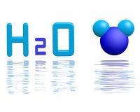 Formel des Wassers Stockfoto