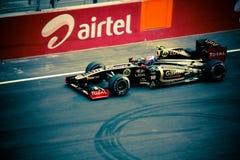 Formel 1, die Motor- Lotus läuft Lizenzfreies Stockbild