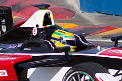 Formel E - Bruno Senna - Mahindra Racing Royaltyfri Bild