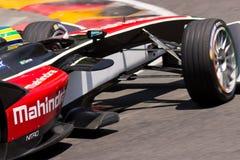 Formel E - Bruno Senna - Mahindra Racing Royaltyfria Foton