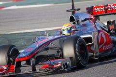 Formel en - McLaren Arkivfoto