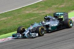 Formel en Mercedes Car för foto F1: Nico Rosberg Royaltyfri Bild