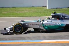 Formel en Mercedes Car för foto F1: Nico Rosberg Arkivfoto