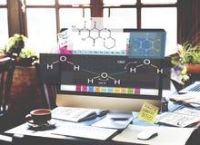 Formel-Experiment Atom Chemistry Concept Stockfotos