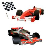 Formel 1 - farbige Illustration Stockfoto