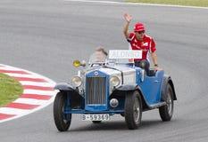 Formel 1 - Fernando Alonso Royaltyfri Bild