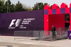 Formel 1, grand prix av Europa, Baku 2016 Arkivbild