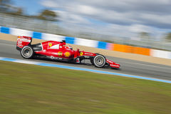 Formel 1, 2015: Kimi Raikkonen Ferrari Arkivbild