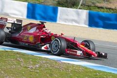 Formel 1, 2015: Kimi Raikkonen Ferrari Arkivfoto