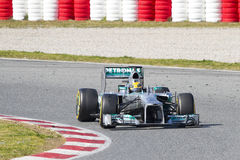 Formel 1 Lewis Hamilton Arkivbild