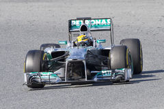 Formel 1 Lewis Hamilton Royaltyfri Bild