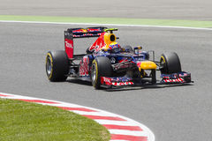 Formel 1 - Mark Webber Arkivfoton