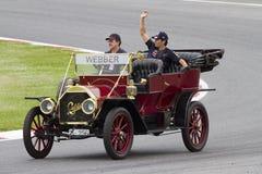 Formel 1 - Mark Webber Arkivfoto