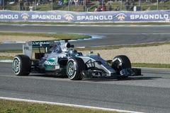 Formel 1, 2015: Nico Rosberg Arkivfoton