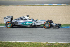 Formel 1, 2015: Nico Rosberg Royaltyfri Fotografi