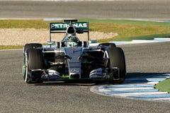 Formel 1 2015: Nico Rosberg Royaltyfria Foton