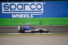 0 2 formel renault 0 billopp på Monza Arkivbild