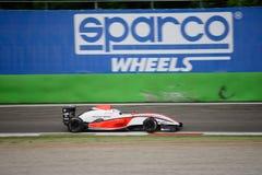 0 2 formel renault 0 billopp på Monza Arkivbilder