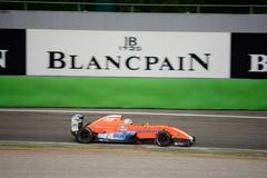 0 2 formel renault 0 billopp på Monza Royaltyfri Foto
