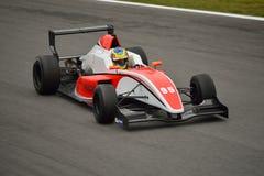 0 2 formel renault 0 bilprov på Monza Royaltyfri Bild
