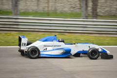 0 2 formel renault 0 bilprov på Monza Arkivfoto